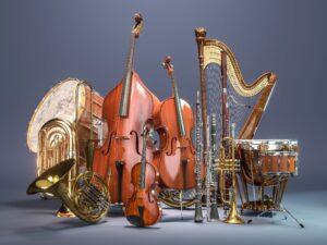 3d render of various instruments